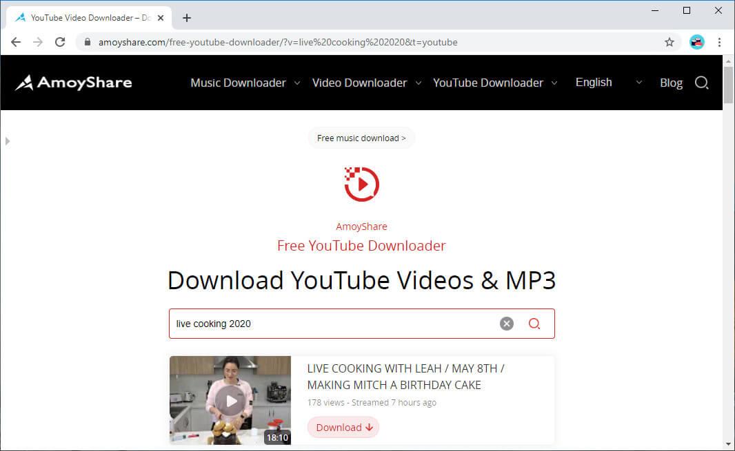 Suche nach YouTube Live-Stream-Video