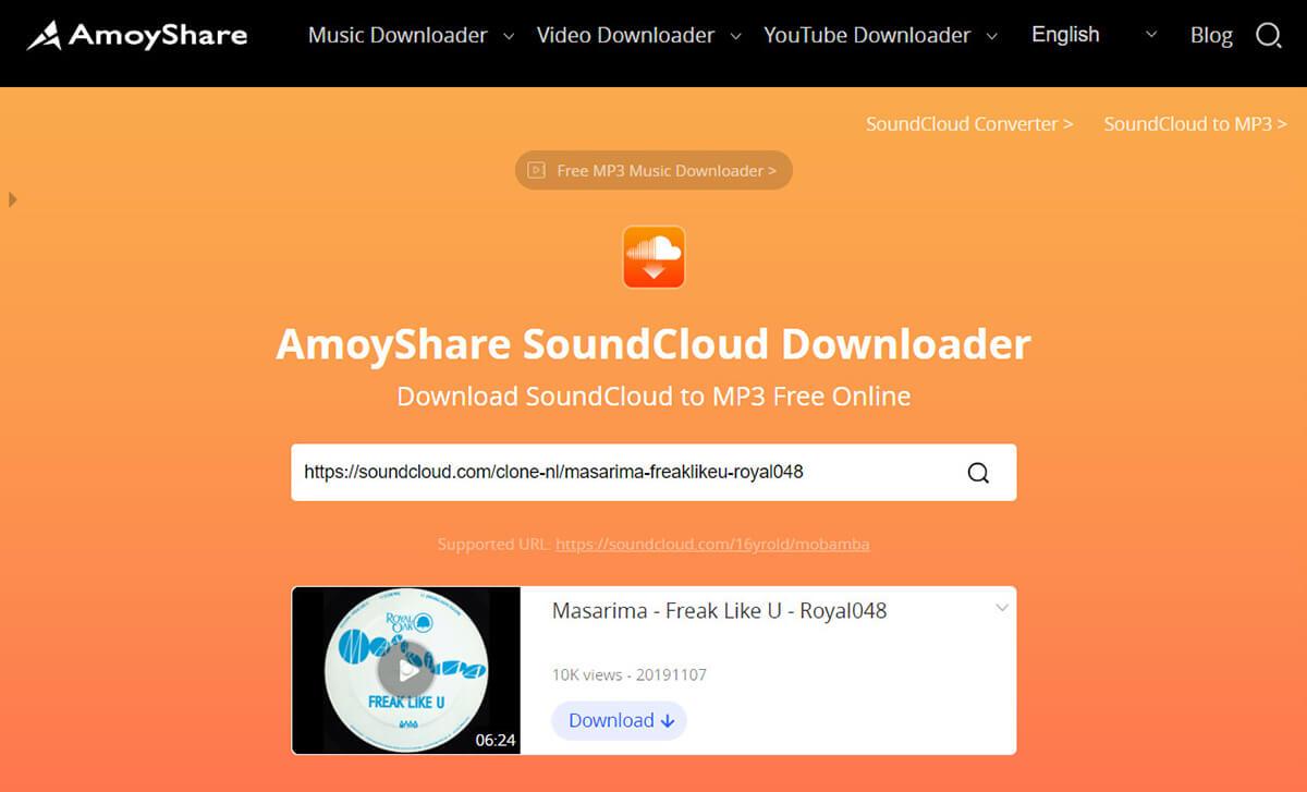 Search SoundCloud music