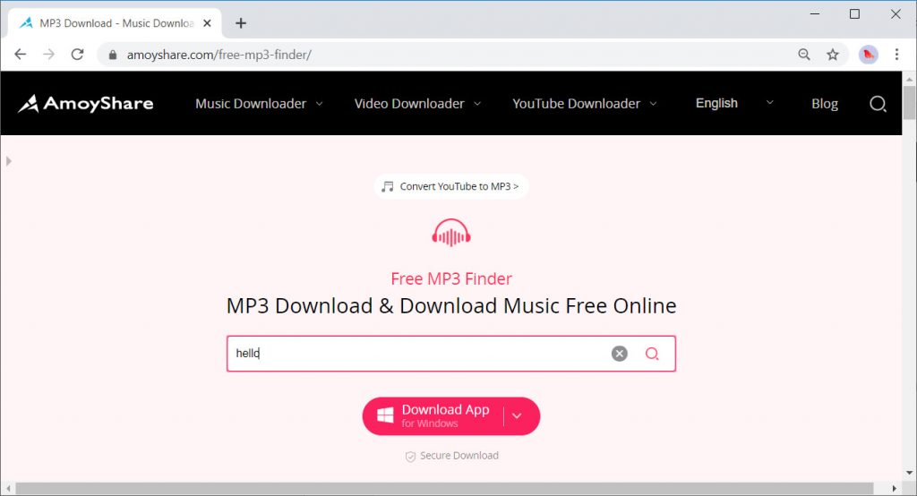 AmoyShare Free MP3 Finder music name search