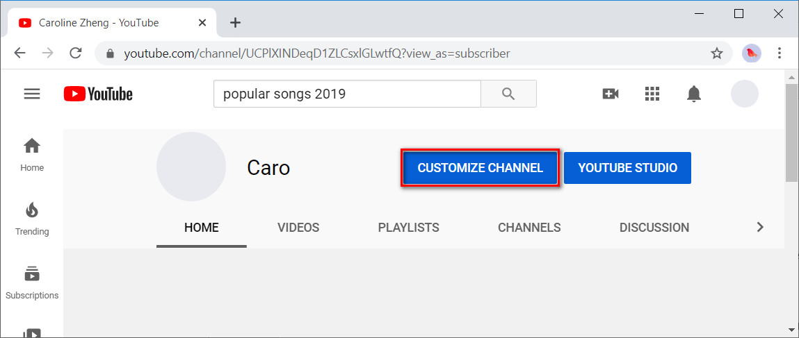 YouTube new channel creation