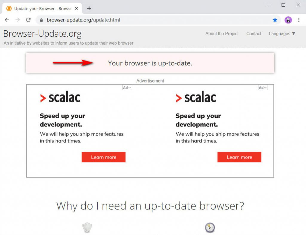 Check your browser