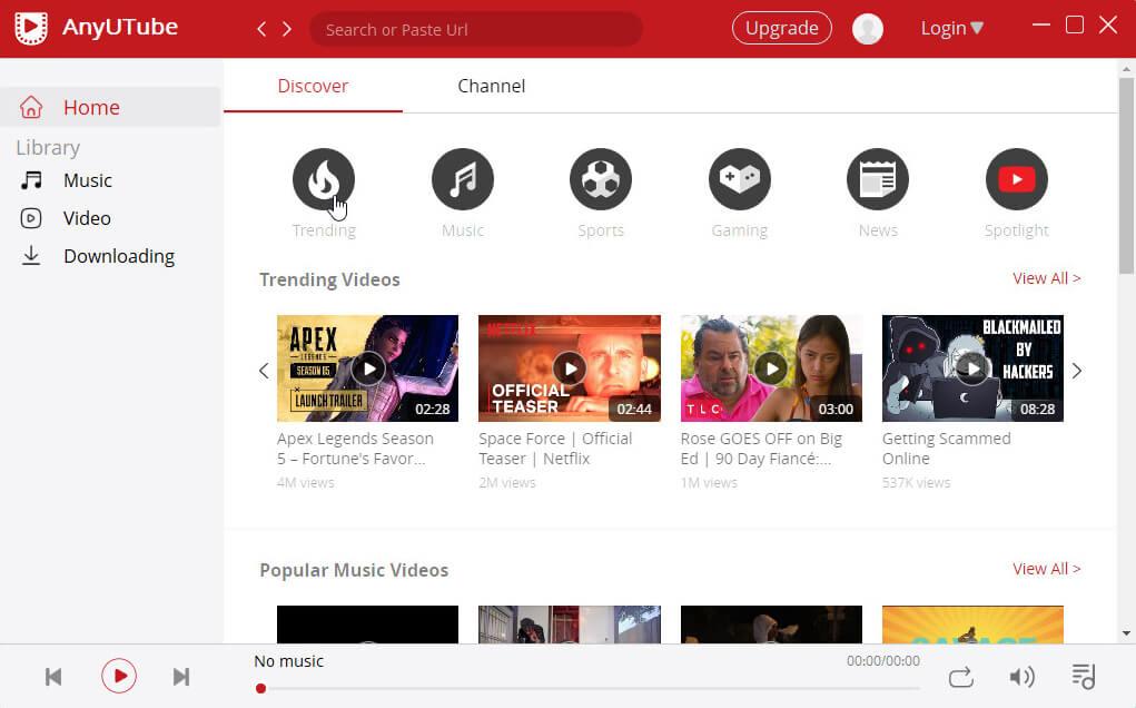 Visit YouTube through AnyUTube