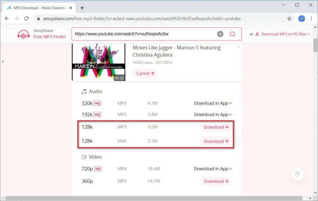 AmoyShare Free MP3 Finder music download