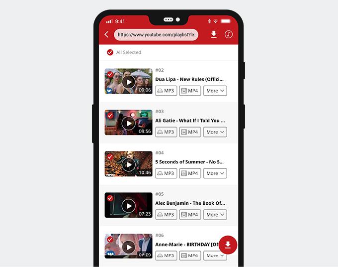 AnyUTube Playlist URL-Suche