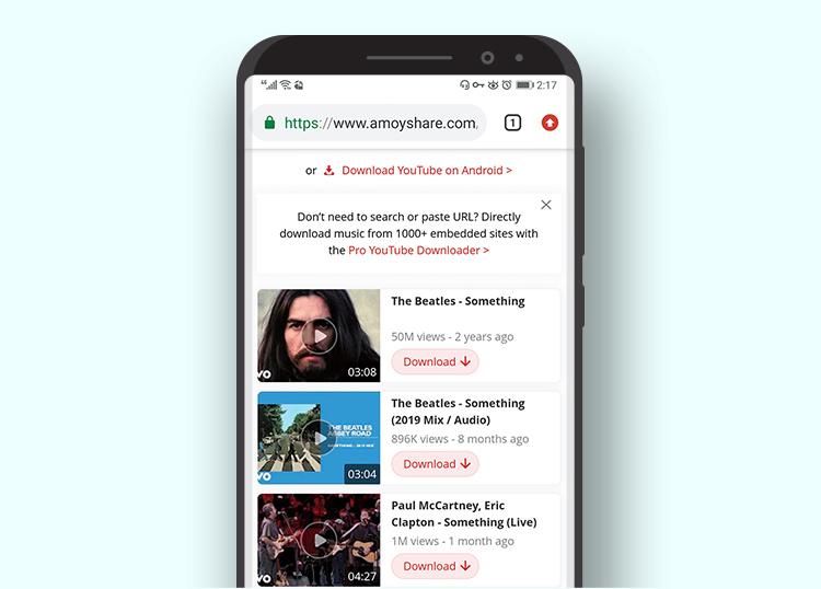 AmoyShareオンラインダウンローダービデオブラウジング