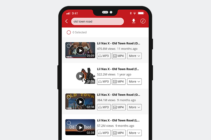 Search video on AnyUTube