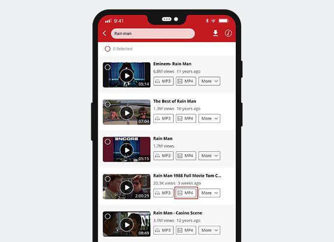 Download di film su AnyUTube YouTube