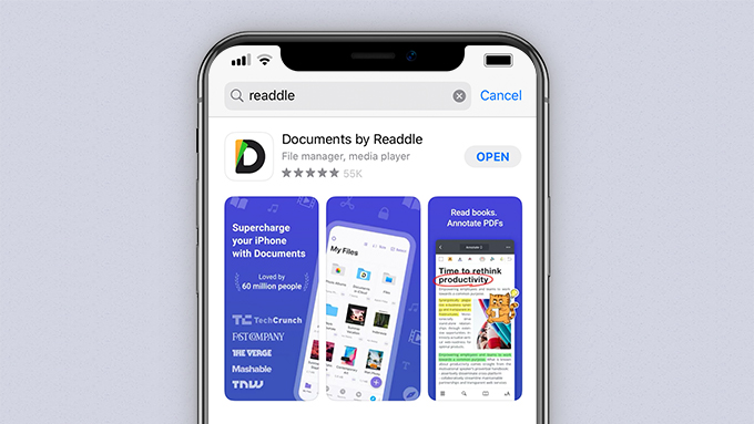 Documents by Readdle sull'App Store