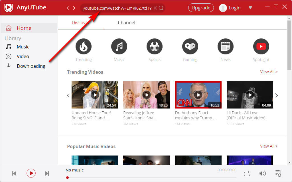 AnyUTube video url search