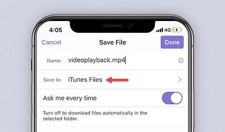 File's name setting