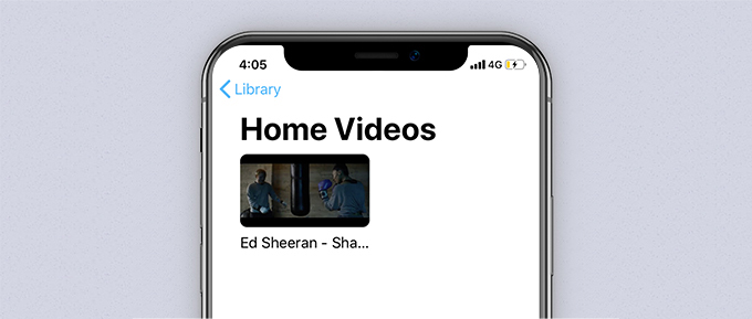 Synced video file in Apple TV