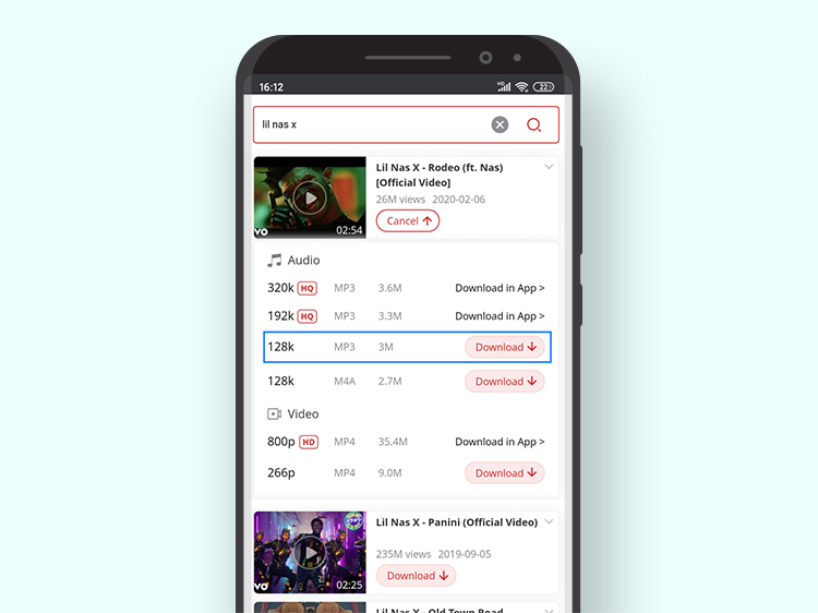 download music from YouTube on android