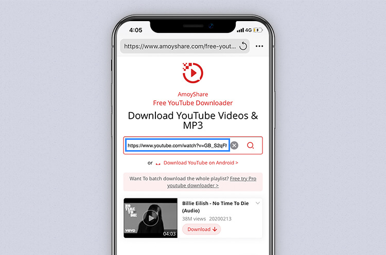 Search for YouTube music with Free YouTube Downloader