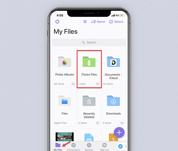 File di documenti iTunes di Readdle