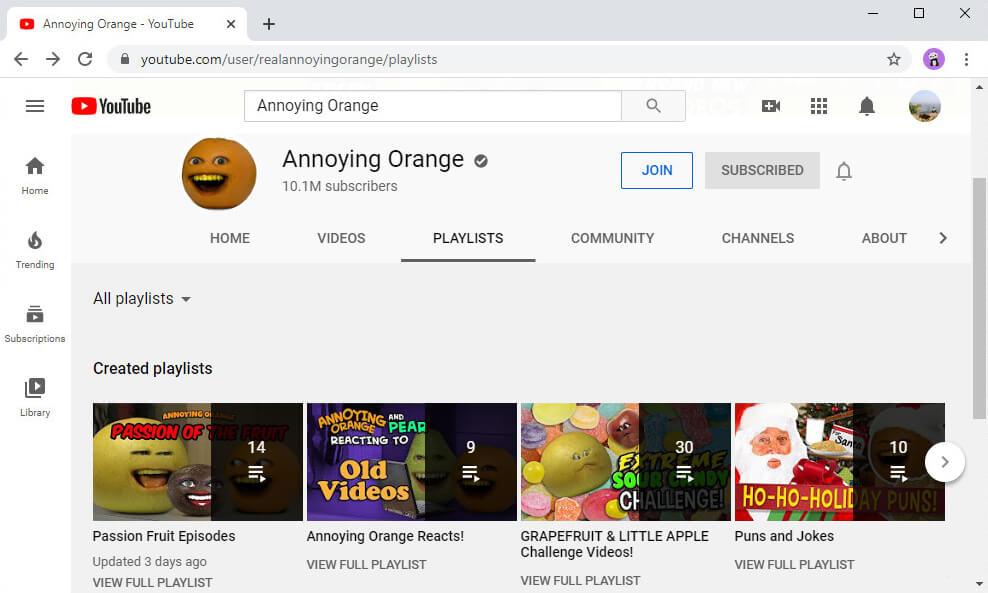 Finde eine Wiedergabeliste, die dir gefällt, auf dem YouTube-Kanal
