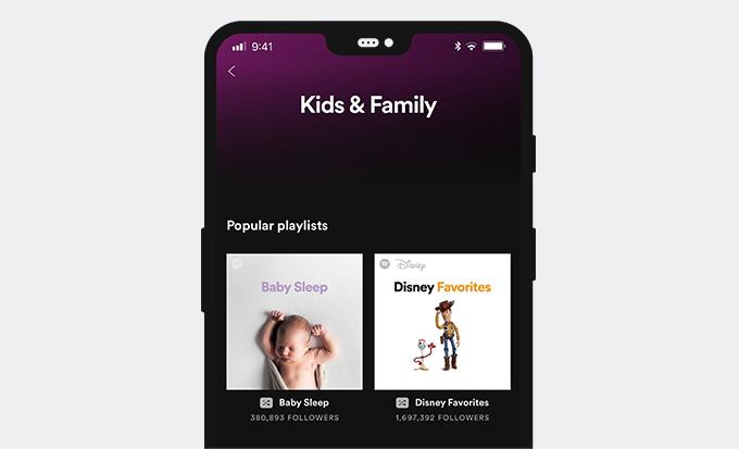 Spotify Kids-Oberfläche