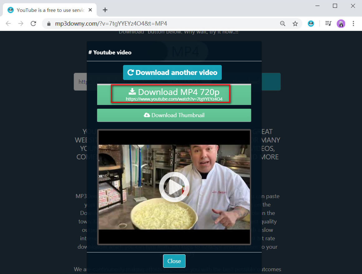 Video quality selection and download