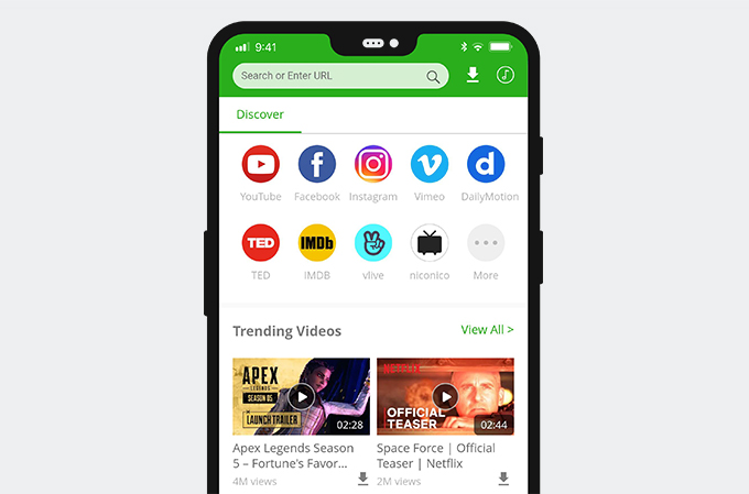 AnyVid auf Android