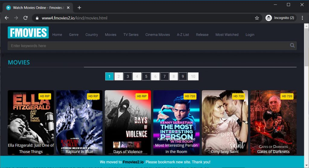 FMovies interface