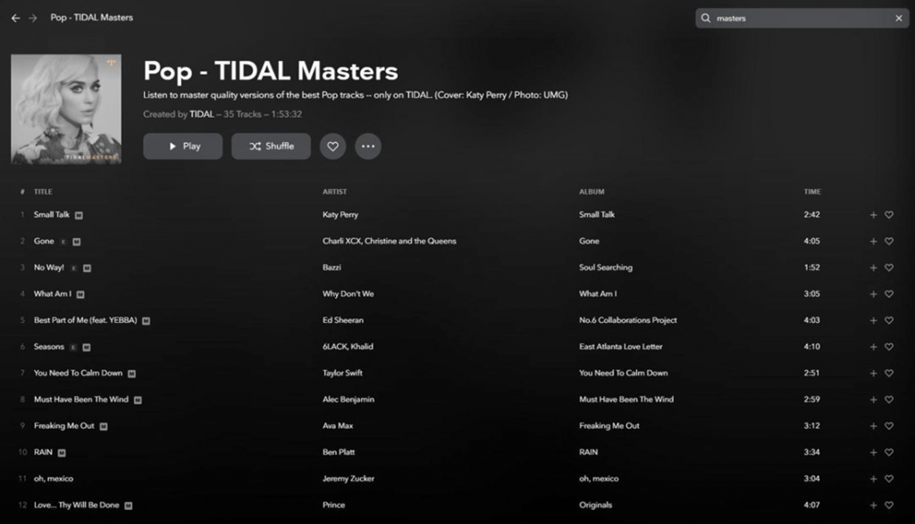 Tidal interface