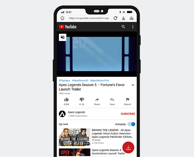 Enter into YouTube via AnyUTube