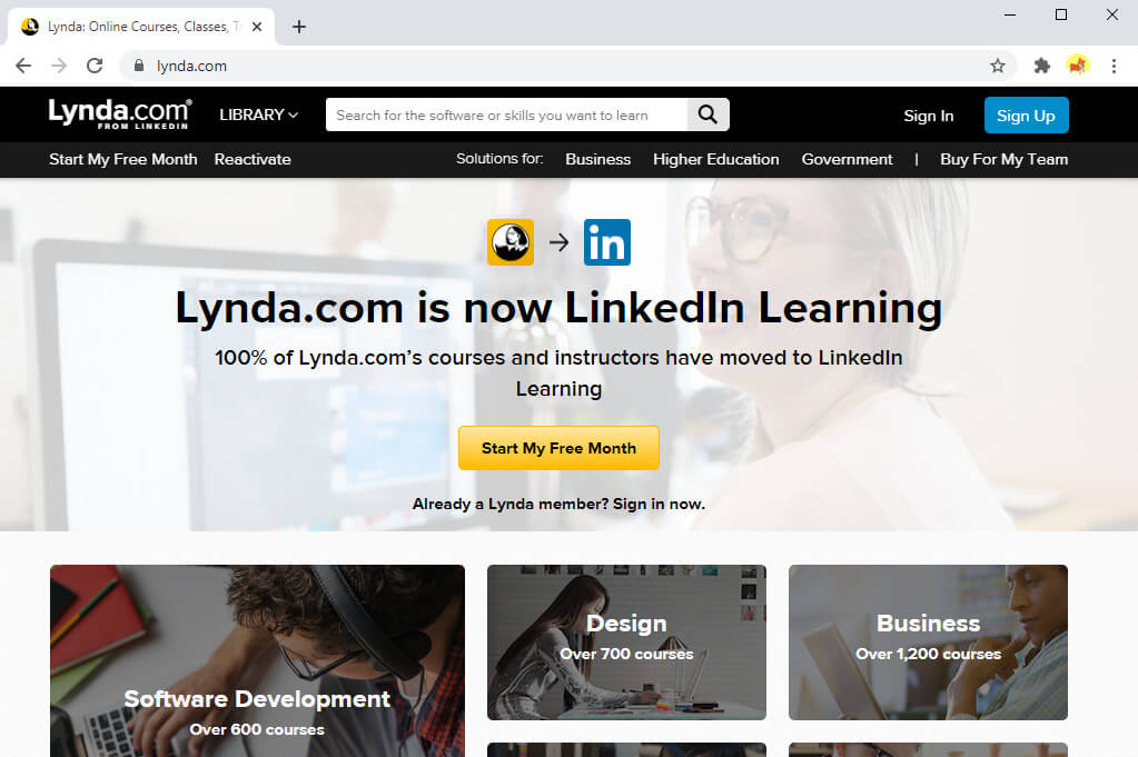 Sites like Coursera - Lynda.com
