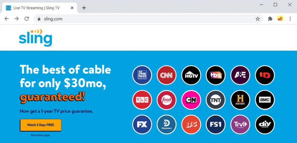 Sling TV: alternativa a Hulu