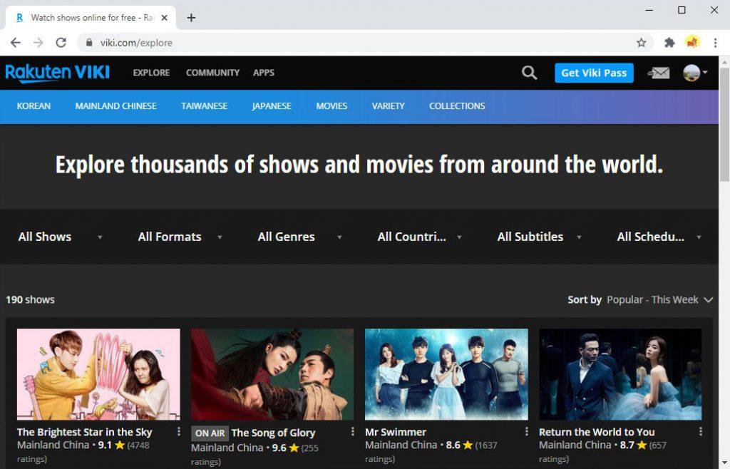 Korean drama website - Viki