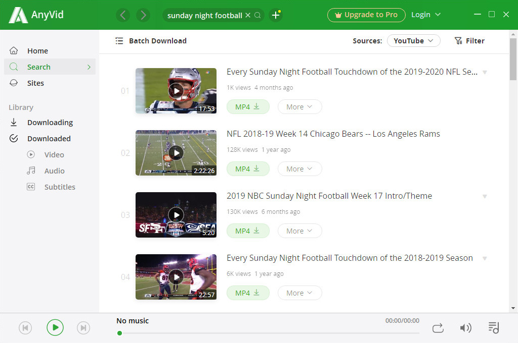 Search for TV shows with AnyVid