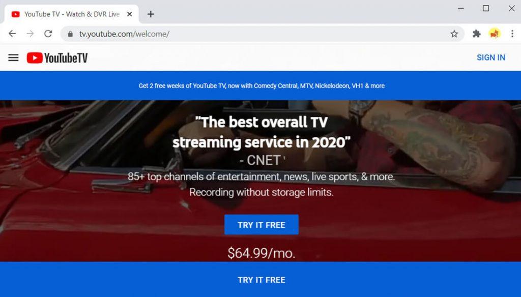 YouTube TV-Huluの代替