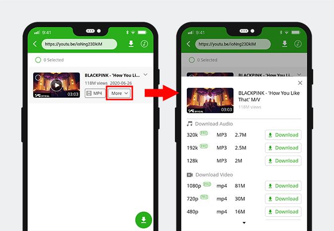 Laden Sie eingebettete Videos auf Android herunter