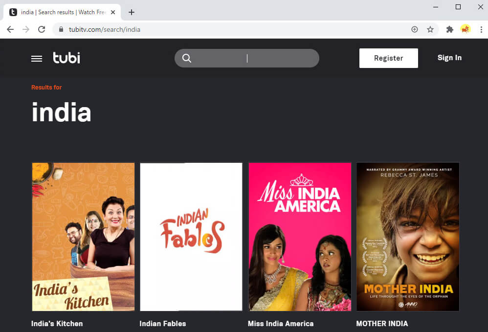 You can find many Indian-feature films, TV shows on Tubi