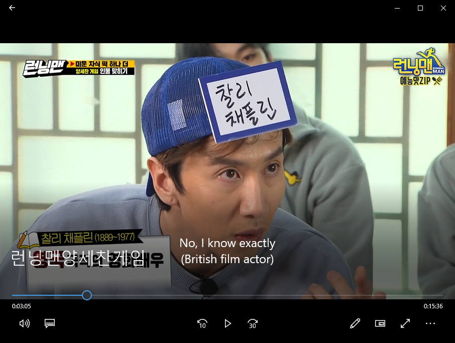 Watching Running Man with English subtitle