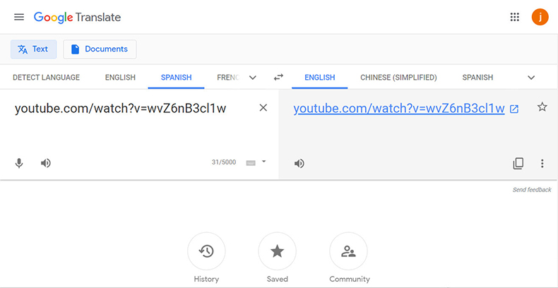 Verwenden Sie Google Translate als Proxy