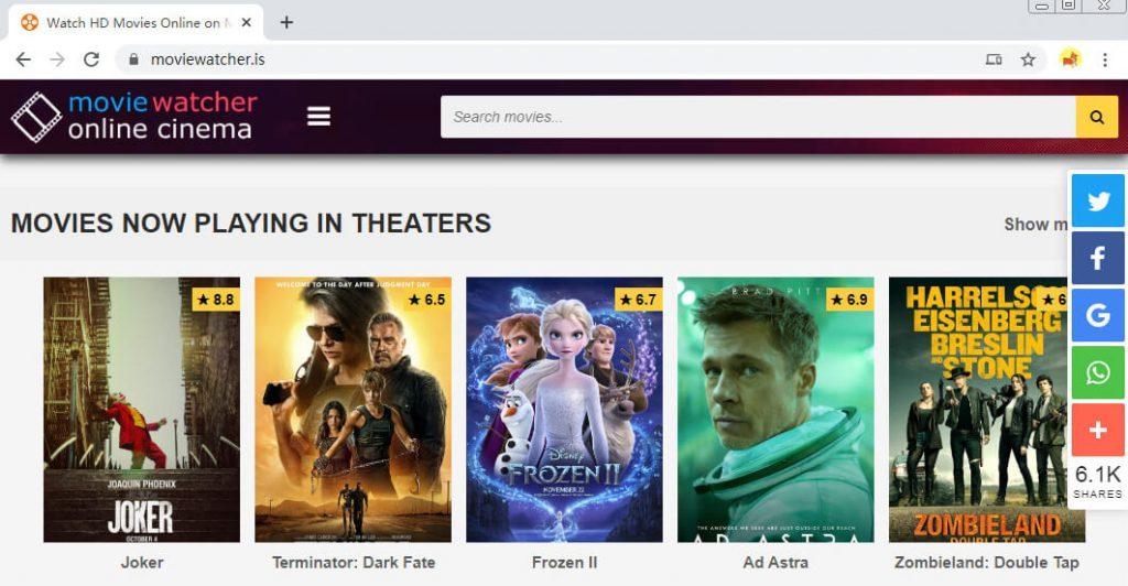 Websites wie FMovies - Moviewatcher