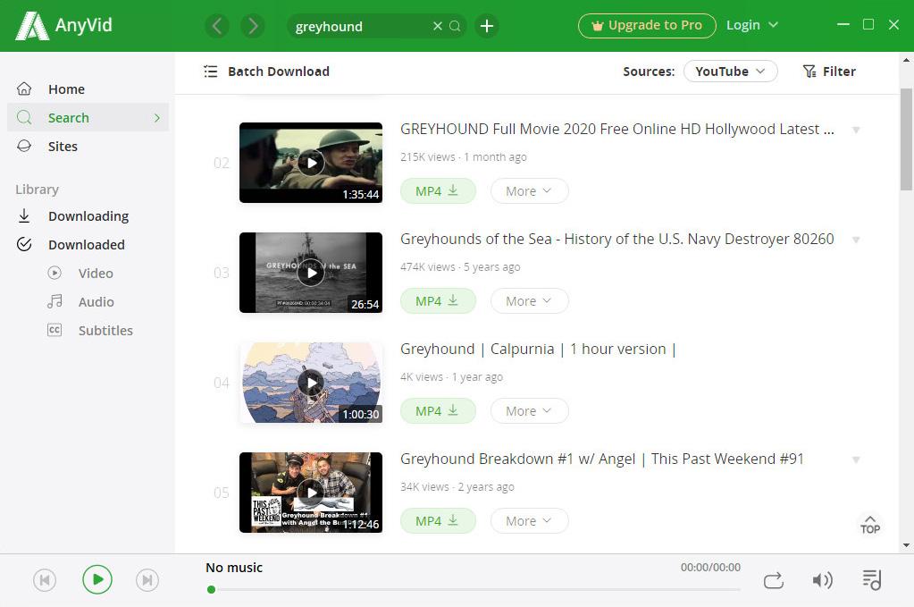 AnyVidで映画を検索する