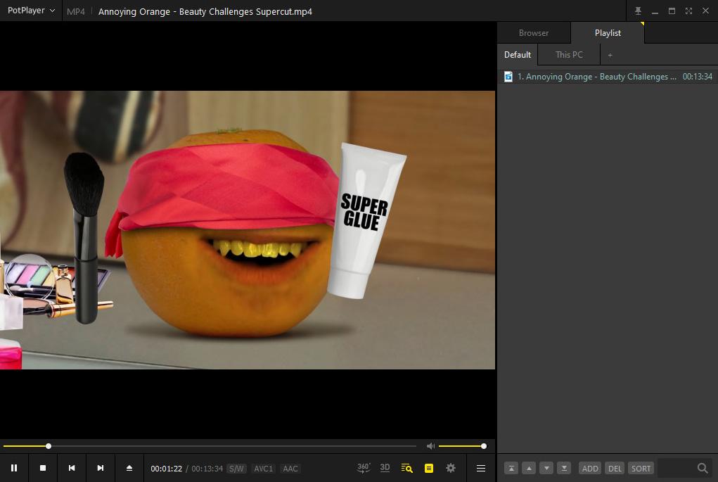 Lettore video per Windows - PotPlayer