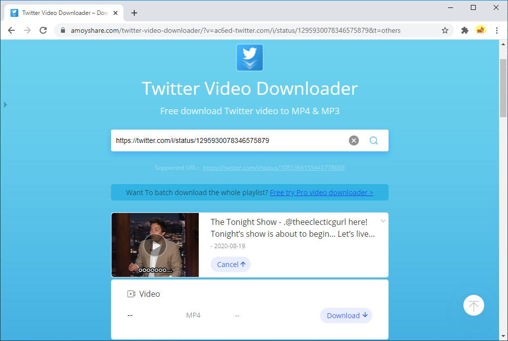 Ottieni il download di GIF da Twitter