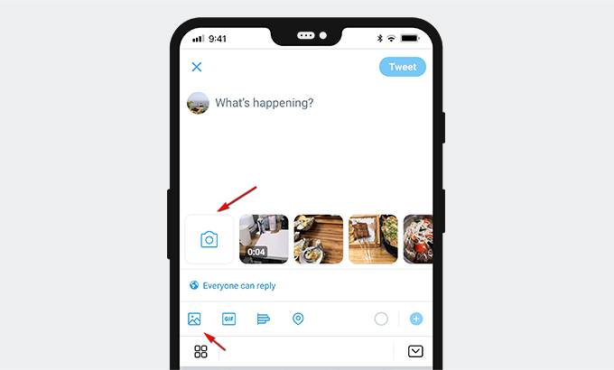 Select a video from gallery or shoot a video now