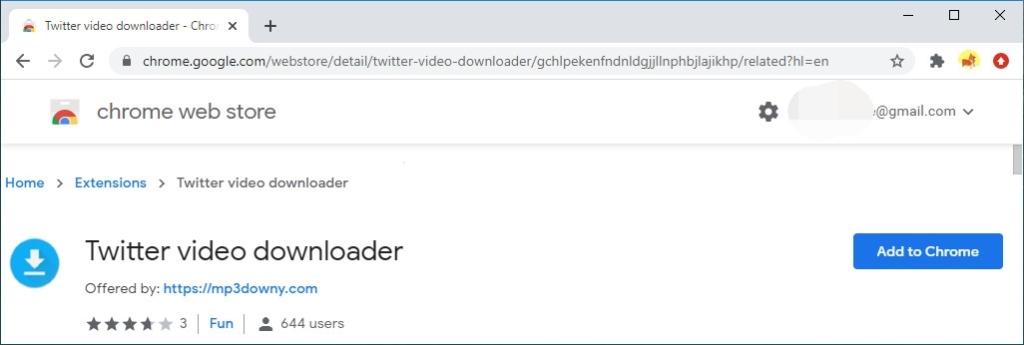 Downloader di video per Twitter MP3Downy