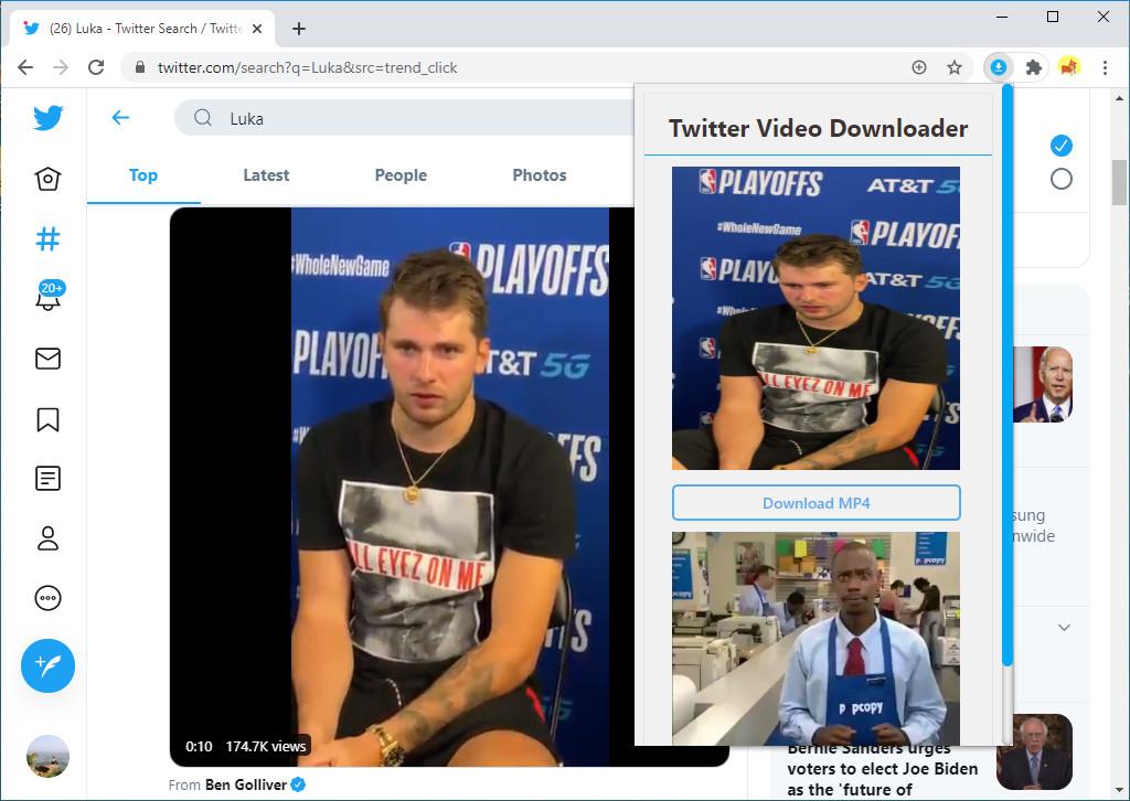 Analizza il video di Twitter con Chrome downloader video di Twitter
