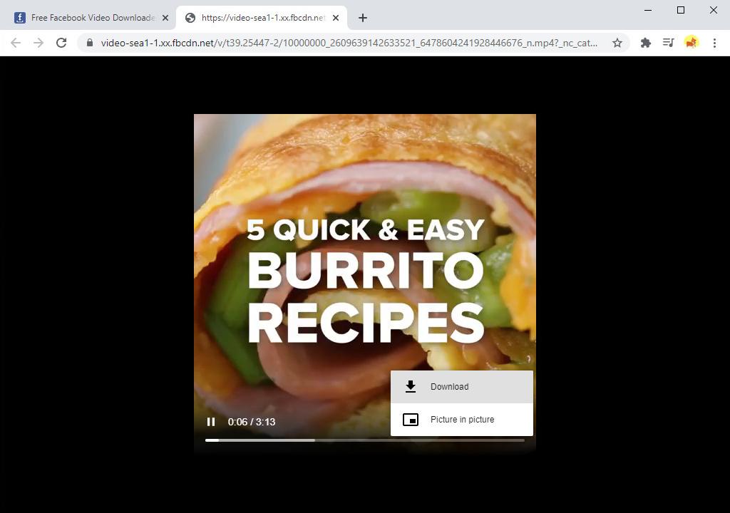 Laden Sie das Fb-Video herunter