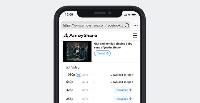 Speichern Sie ein Video von Facebook auf dem iPhone