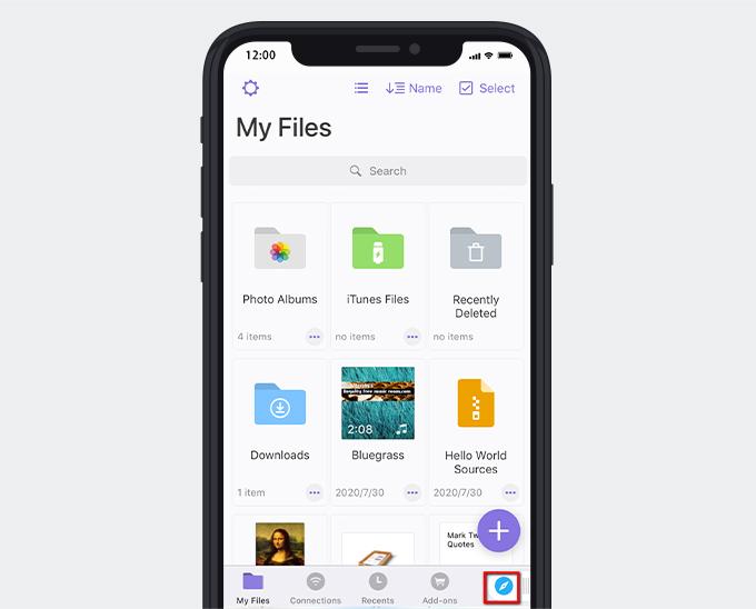 Documento browser integrato